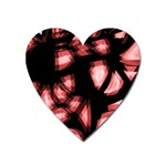 Red light Heart Magnet Front