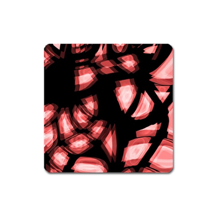 Red light Square Magnet