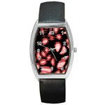 Red light Barrel Style Metal Watch Front