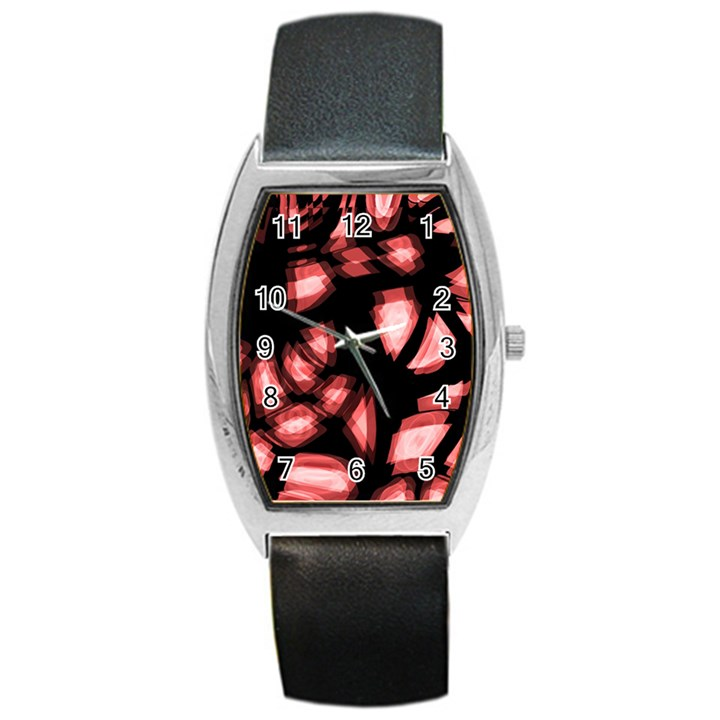Red light Barrel Style Metal Watch