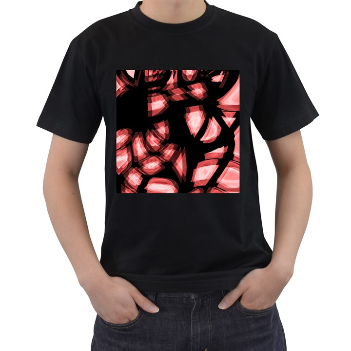 Red light Men s T-Shirt (Black) (Two Sided)