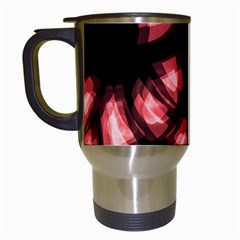 Red light Travel Mugs (White)