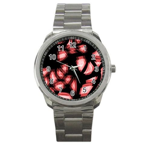 Red light Sport Metal Watch