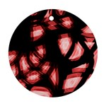 Red light Round Ornament (Two Sides)  Back