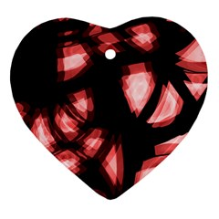 Red light Heart Ornament (2 Sides)