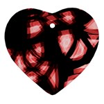 Red light Heart Ornament (2 Sides) Back