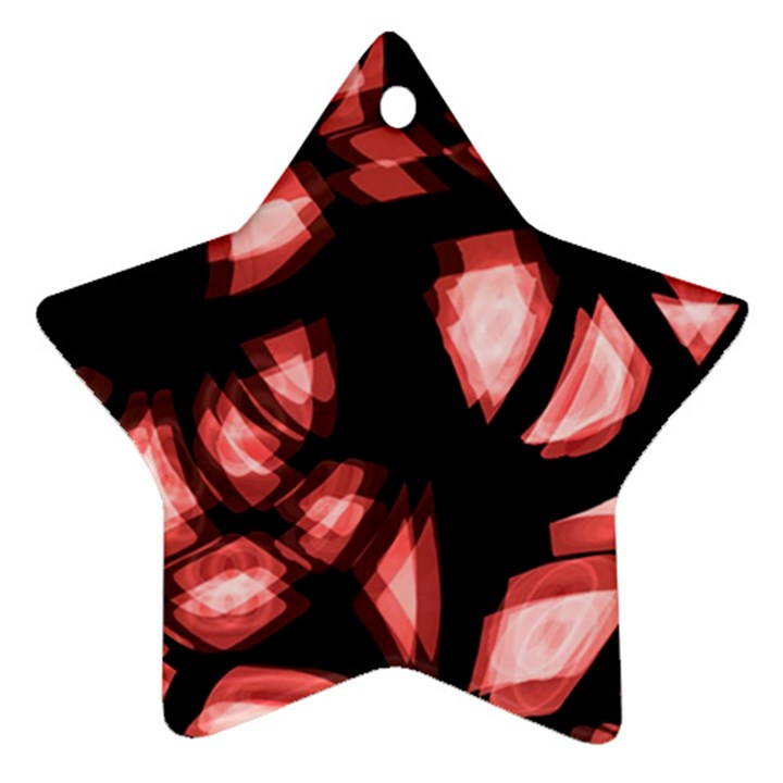 Red light Star Ornament (Two Sides)