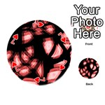Red light Playing Cards 54 (Round)  Front - Heart7