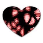 Red light Heart Mousepads Front