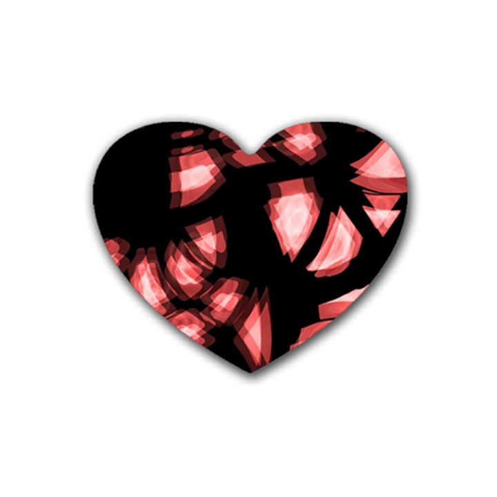 Red light Rubber Coaster (Heart)