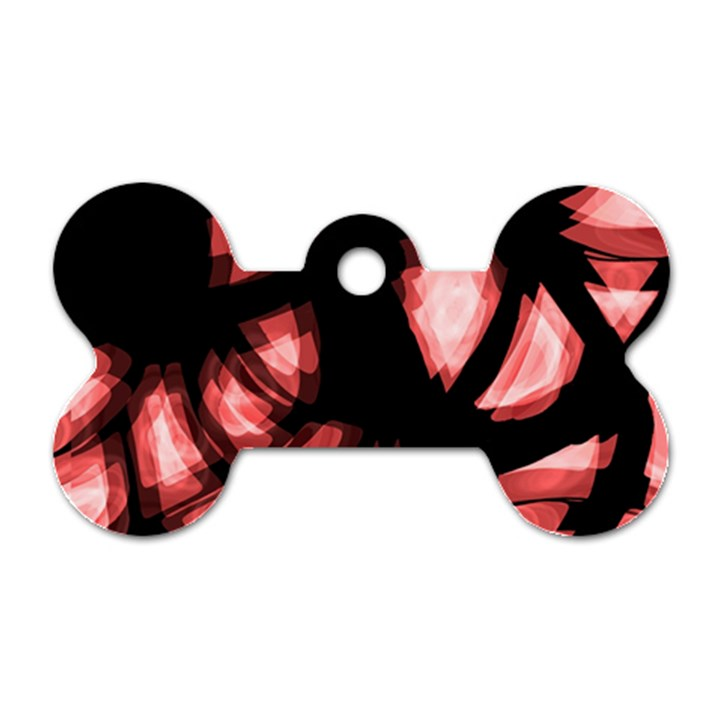 Red light Dog Tag Bone (One Side)