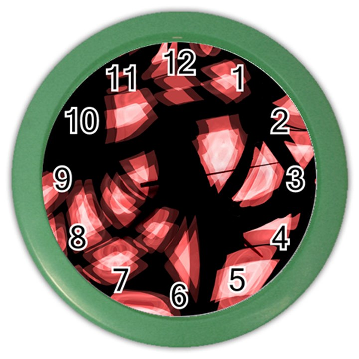 Red light Color Wall Clocks
