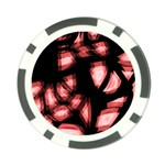 Red light Poker Chip Card Guards (10 pack)  Front