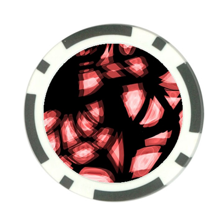 Red light Poker Chip Card Guards (10 pack)