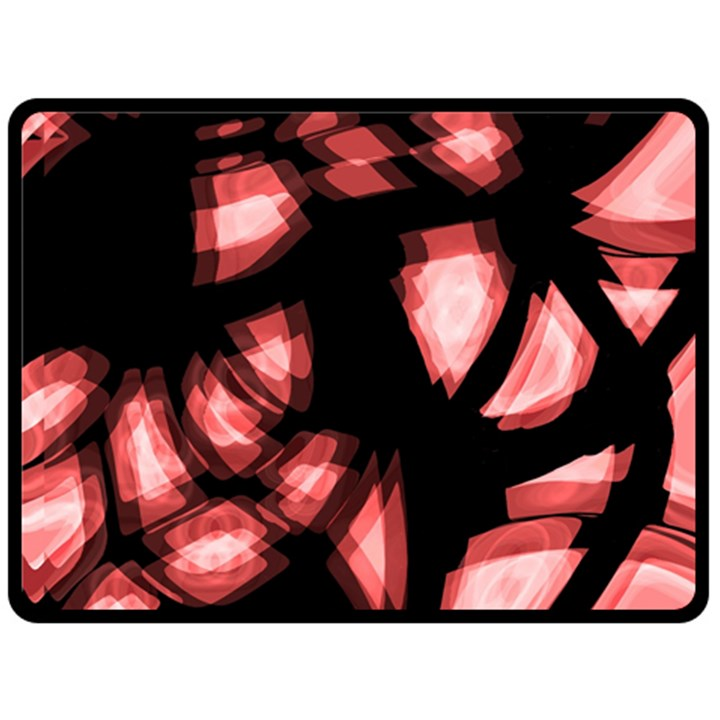Red light Fleece Blanket (Large)