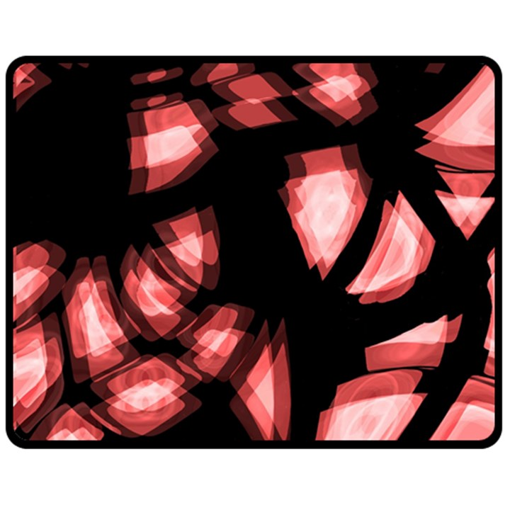 Red light Fleece Blanket (Medium)