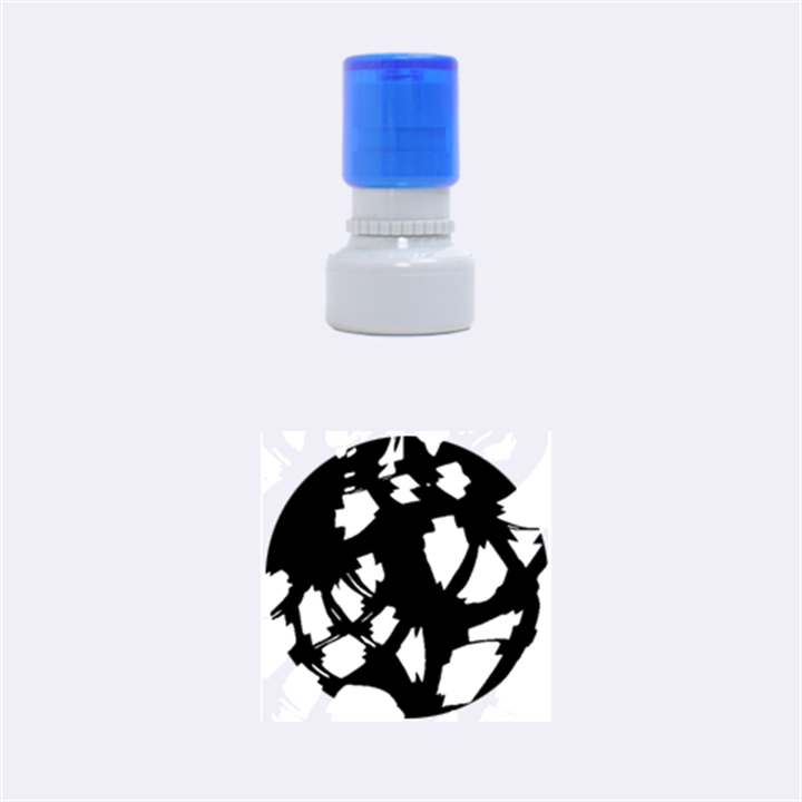 Red light Rubber Round Stamps (Small)