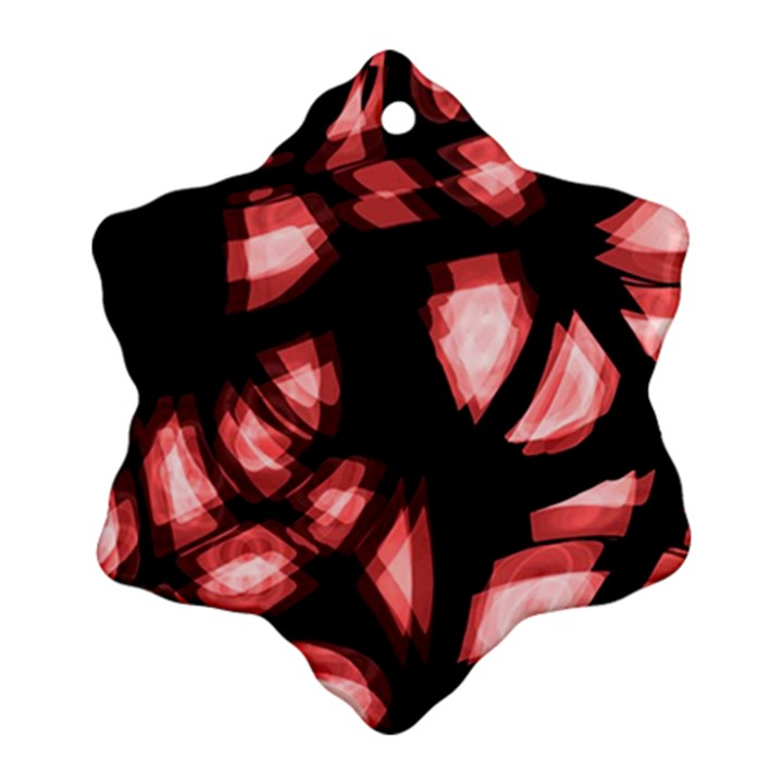 Red light Ornament (Snowflake)