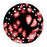 Red light Round Filigree Ornament (2Side) Front