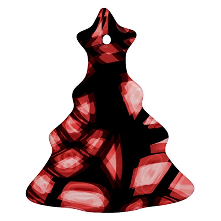 Red light Christmas Tree Ornament (2 Sides)