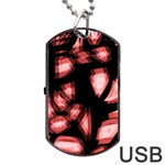 Red light Dog Tag USB Flash (One Side) Front