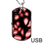 Red light Dog Tag USB Flash (Two Sides)  Back