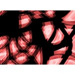 Red light LOVE Bottom 3D Greeting Card (7x5) Front