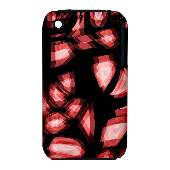 Red light Apple iPhone 3G/3GS Hardshell Case (PC+Silicone)