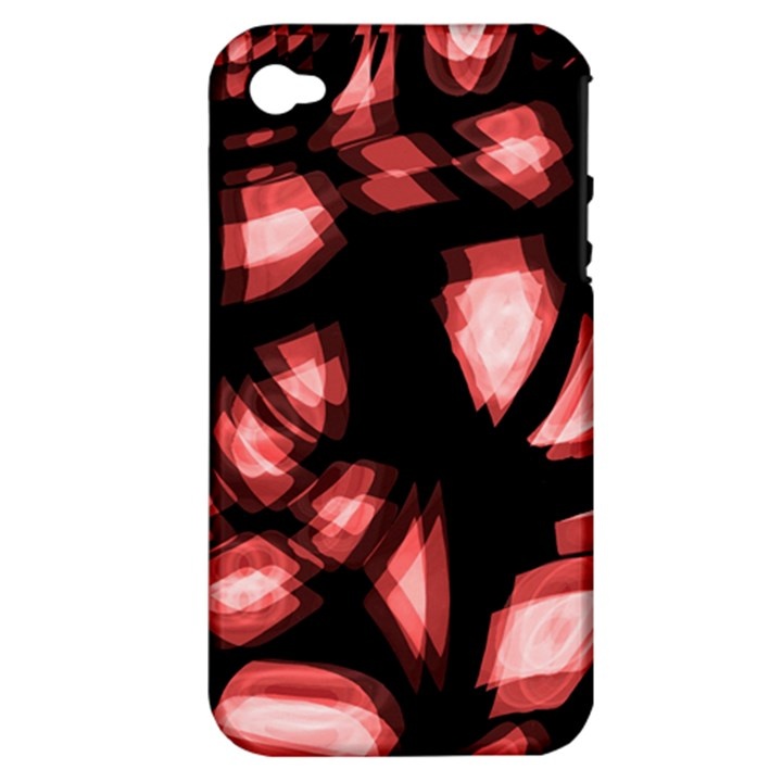 Red light Apple iPhone 4/4S Hardshell Case (PC+Silicone)