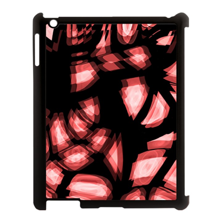 Red light Apple iPad 3/4 Case (Black)