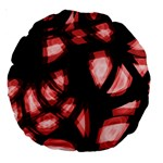 Red light Large 18  Premium Round Cushions Back