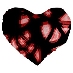 Red Light Large 19  Premium Heart Shape Cushions