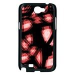 Red light Samsung Galaxy Note 2 Case (Black) Front