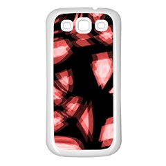Red light Samsung Galaxy S3 Back Case (White)