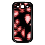 Red light Samsung Galaxy S3 Back Case (Black) Front