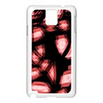 Red light Samsung Galaxy Note 3 N9005 Case (White) Front