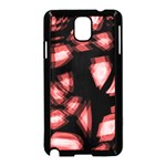 Red light Samsung Galaxy Note 3 Neo Hardshell Case (Black) Front