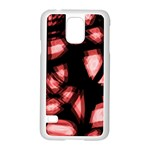 Red light Samsung Galaxy S5 Case (White) Front