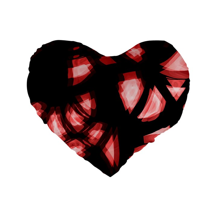 Red light Standard 16  Premium Flano Heart Shape Cushions