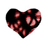 Red light Standard 16  Premium Flano Heart Shape Cushions Back