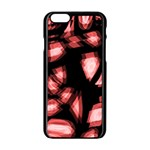 Red light Apple iPhone 6/6S Black Enamel Case Front