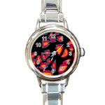 Hot, hot, hot Round Italian Charm Watch Front