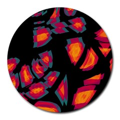 Hot, hot, hot Round Mousepads