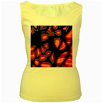 Hot, hot, hot Women s Yellow Tank Top Front