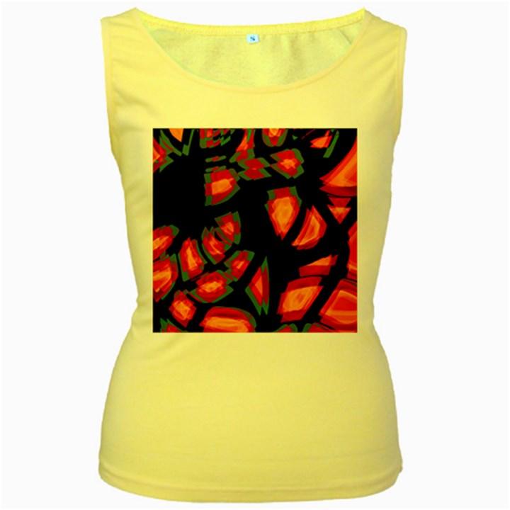 Hot, hot, hot Women s Yellow Tank Top