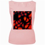 Hot, hot, hot Women s Pink Tank Top Front