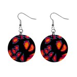 Hot, hot, hot Mini Button Earrings Front