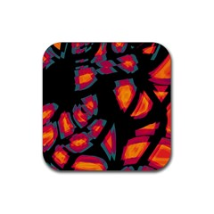 Hot, hot, hot Rubber Square Coaster (4 pack)