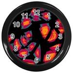 Hot, hot, hot Wall Clocks (Black) Front