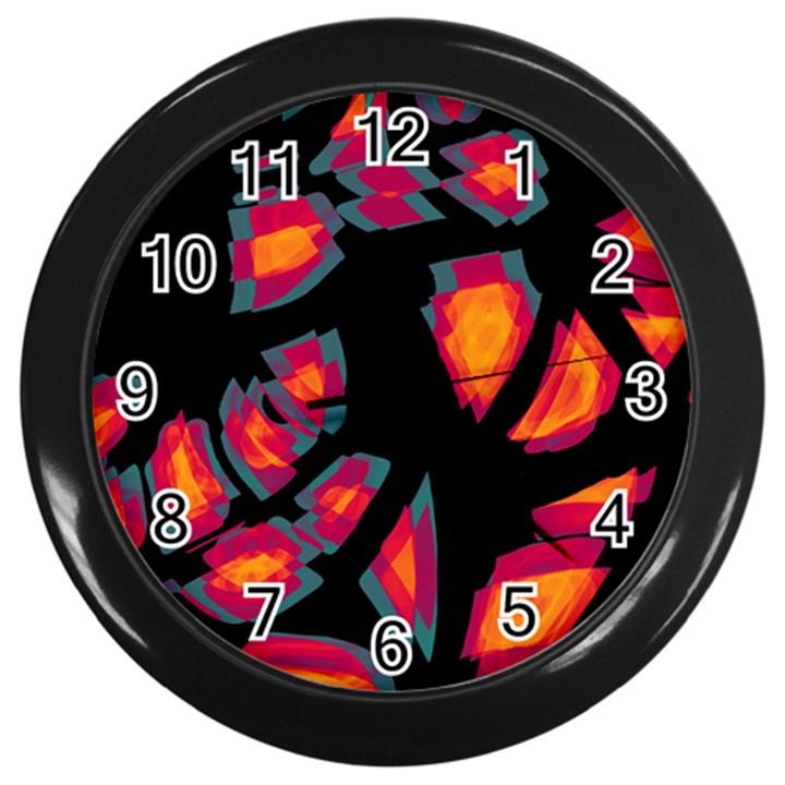 Hot, hot, hot Wall Clocks (Black)